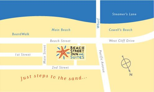 Location Directions to Beach Street Inn and Suites